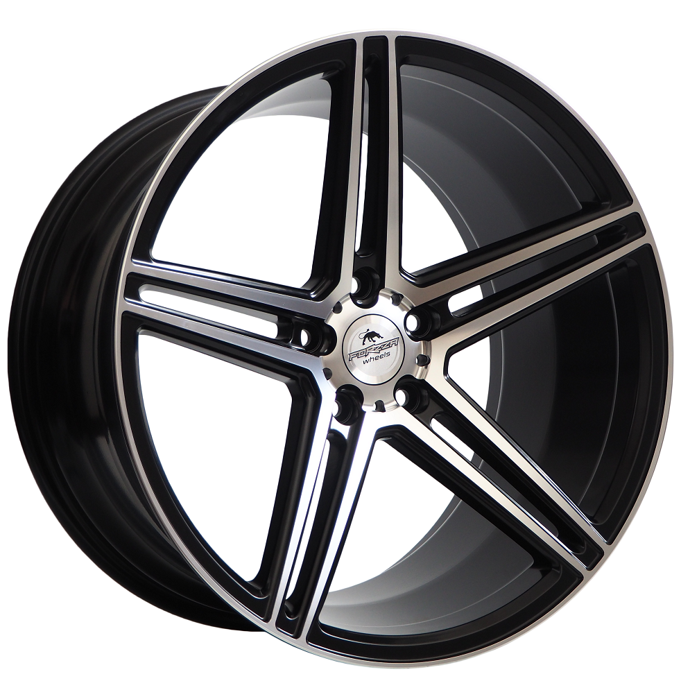 Forzza Bosan 10,5×22 5×112 ET38 Black Matt Face Machined