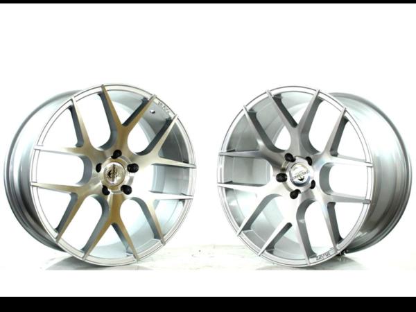 Forzza Ambra 10,5x20 5x120 Silver Face Machined