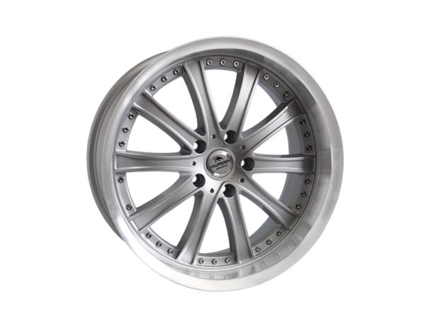 Forzza Code 8,5x19 5x120 Silver Lip Machined