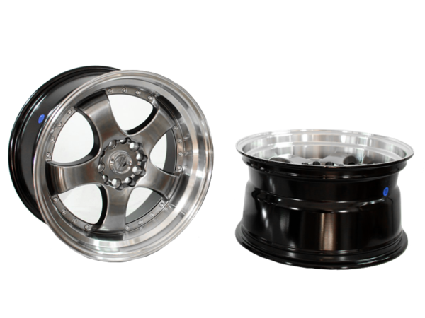 Forzza Flamber 9,5x18 5x120 Hyper Black / Lip Machined