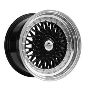 Forzza Malm 8×15 4×100 Black / Lip Machined