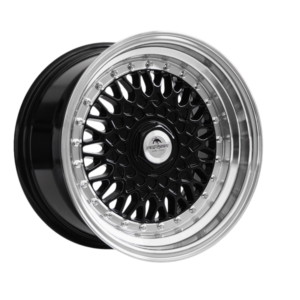 Forzza Malm 8×15 4×108 Black / Lip Machined