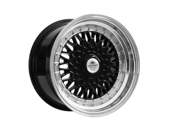 Forzza Malm 8x15 4x108 Black / Lip Machined