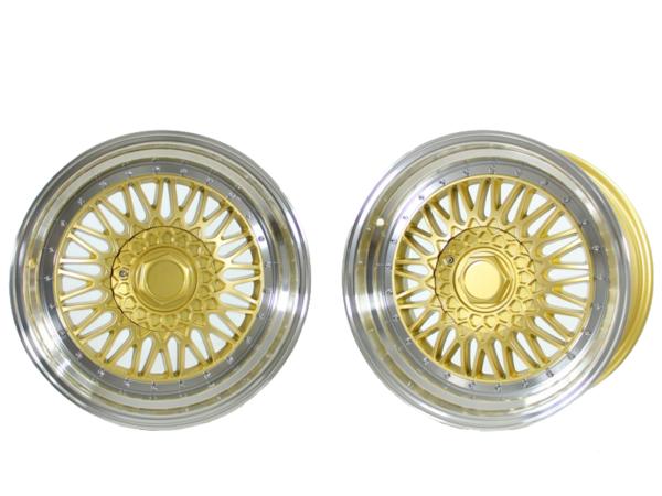 Forzza Malm 8,5x17 4x100 Gold / Lip Machined