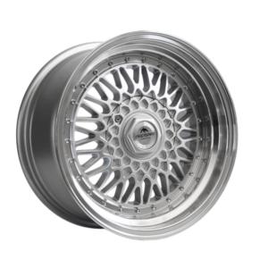 Forzza Malm 9×16 4×100 ET15 Silver / Lip Machined