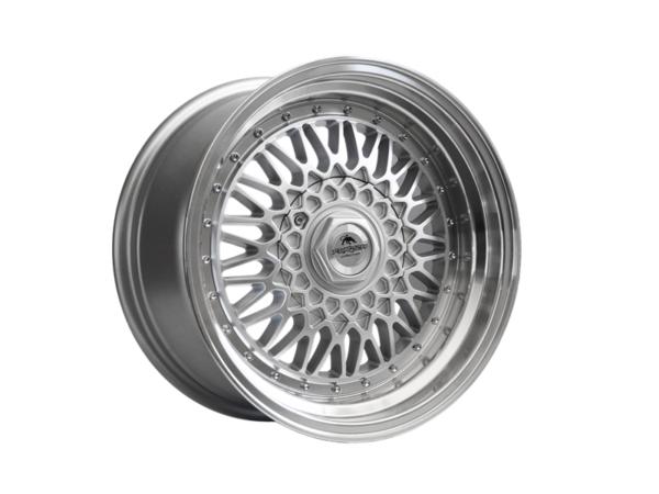 Forzza Malm 8x15 4x108 Silver / Lip Machined