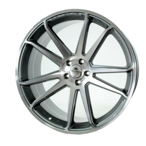 Forzza Solo 10,5×22 5×112 Grey Face Machined