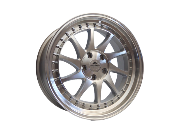 Forzza Space 9,5x18 5x120 Silver Face Machined