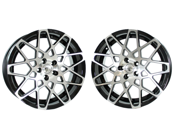 Forzza Spider 9x20 5x112 Black Face Machined
