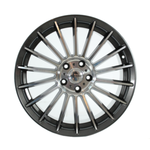 Forzza Spike 8×18 5×112 Grey Face Machined