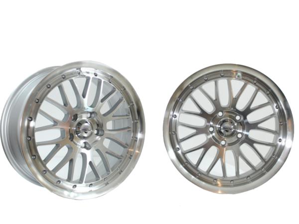 Forzza Spot 7,5x17 5x108 Silver Face Machined
