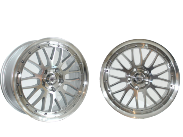 Forzza Spot 9,5x18 5x120 Silver Face Machined